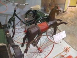 In Victorian times, children played with toy horses and traps in the same way as modern children play with toy cars.