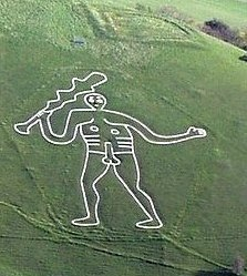 Cerne Abbas Giant, near the village of Cerne Abbas in Dorset. Author: PeteHarlow. Creative Commons