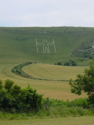View of the Long Man of Wilmington., East Sussex. Author : User: Cupcakekid at en.wikipedia. Creative Commons