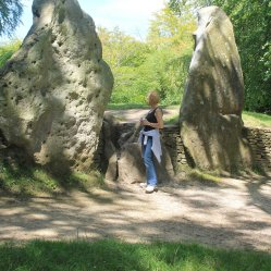 Me at the entrance to Wayland's Smithy