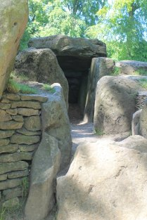 Passage into the burial chamber at Wayland's Smithy