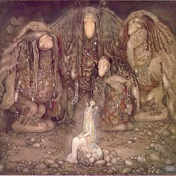 "Trolls in Iceland by John Bauer, 1915. ""Look at my sons! You won't find more beautiful trolls on this side of the moon."" Public Domain"