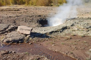 Litli Geyser at Geysir geothermal field.