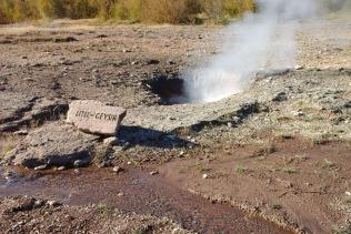 Litli Geyser at Geysir geothermal field.