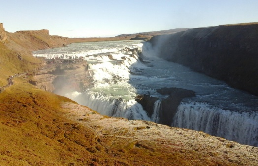 Gullfoss is one of the most spectacular of the many waterfalls in Iceland.