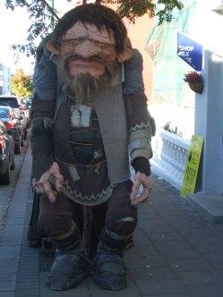 One of a pair of trolls in Reykjavik