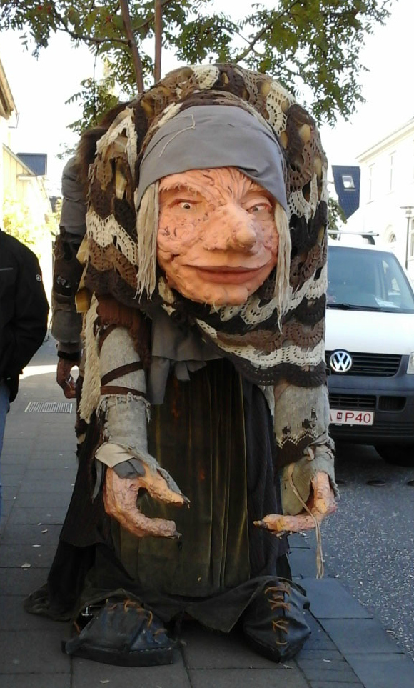 One of a pair of trolls in Reykjavik.