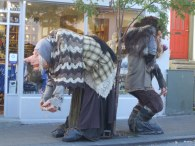 A couple of friendly trolls in Reykjavik.