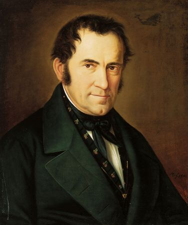 Portrait of Franz Xaver Gruber (painting) 1846. Photographer: stillenachtland.at Bildatenbank Public Domain.