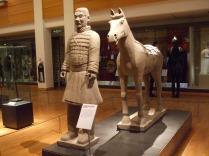 Replica 'terracotta warrior' - original about 210 BC
