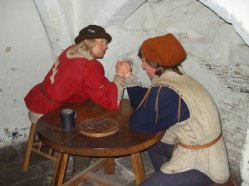 Arm wrestling to pass the time