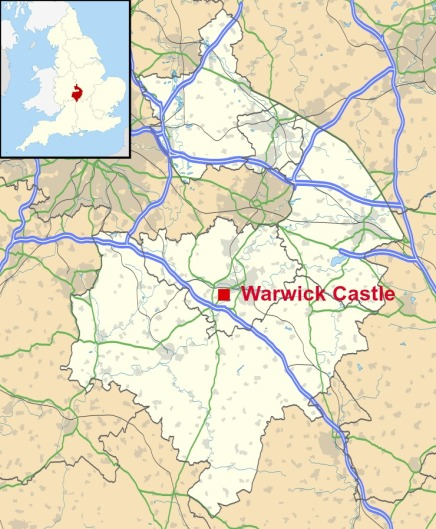 location-of-warwick-castle
