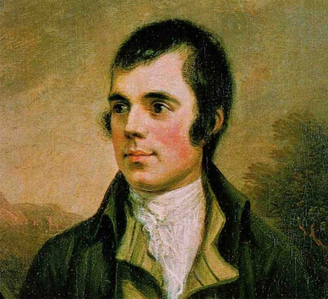 Robert Burns, 1787. Source unknown. Author originally Alexander Nasmyth, 1758 - 1840. Public Domain
