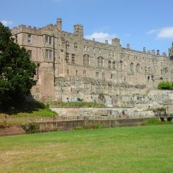 Eastern side outer wall, behind which are the state rooms,, viewed from across the R.Avon
