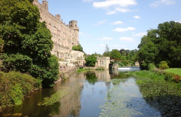 The River Avon provides a natural moat to the south-east of the castle.