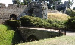 Bridge over the dry moat leading to entrance at the north west.