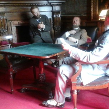 Gentlemen in the 'Smoking Room'.