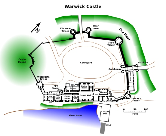 warwick-castle-plan