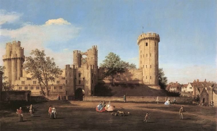 warwick-castle-the-east-front-by-canaletto-in-1752