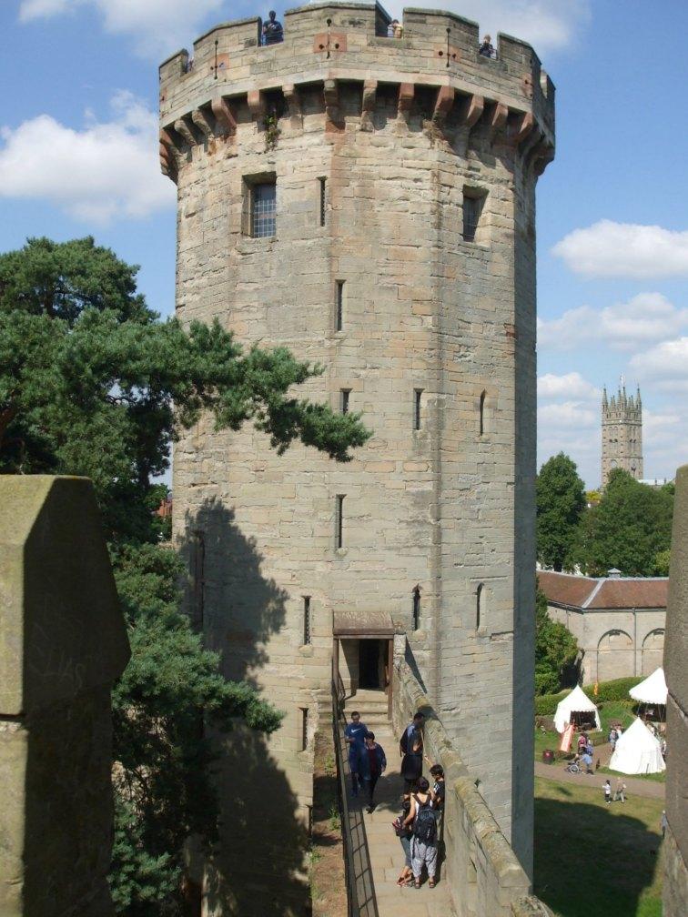 Approaching Guy's Tower along the walkway