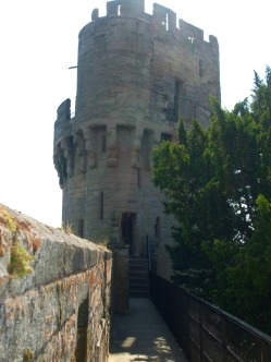 Approaching the upper levels of Caesar's Tower from the battlements.