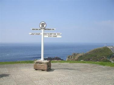 Sign at Lands End. Source: geograph.org.uk Author: Kenneth Allen. Creative Commons
