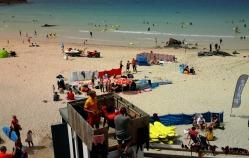 Lifeguards on Porthmeor Beach