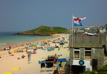 Lifeguard Station on Porthmeor Beach