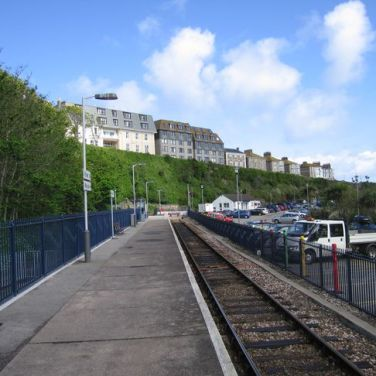 The platform at St Ives railway station. Author: Owen Dun Listed as 'for any purpose'.