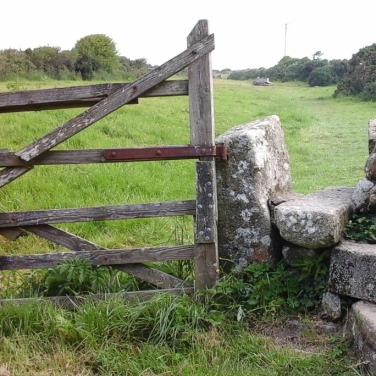 Stile on the way to the village