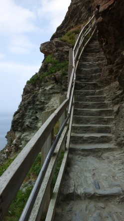 Once on the island, more steps up!