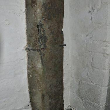 Roman stone in St Materiana's Church, Tintagel. Wikimedia UK Author Nilfanion. Creative Commons
