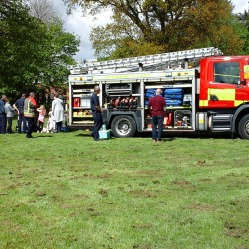 Fire service also on hand