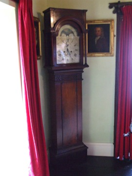 Grandfather clock. A tidal clock in St John's Room