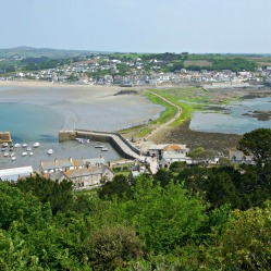 Harbour, Causeway and Marazion from the North Terrace