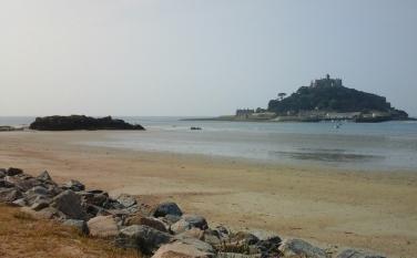 Walking along the beach towards the Causeway