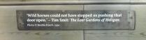 Quote from beneath the hidden door photo.