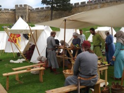 Reenactors in the bailey