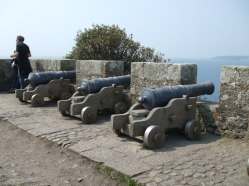 Cannons along defensive wall