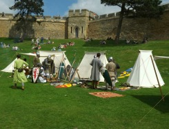 Tents of the reenactors 2