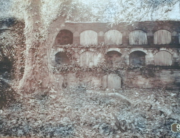 The bee skeps (hives) before restoration