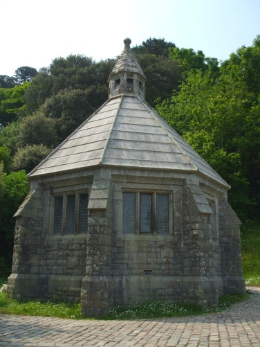 The Victorian dairy. For 25 years until 1909, a small herd of Jersey cows were kept on the Mount to supply the isanders' needs.