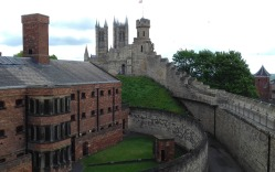 The Back of the Old Prison with Observarory Tower and Cathedral in the background