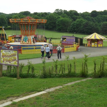 Approaching Beamish Funfair