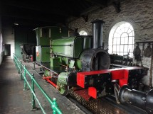 Engine works in the pit village