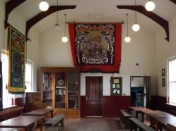 Inside the Village Hall