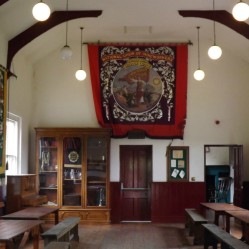 Inside the Village Hall