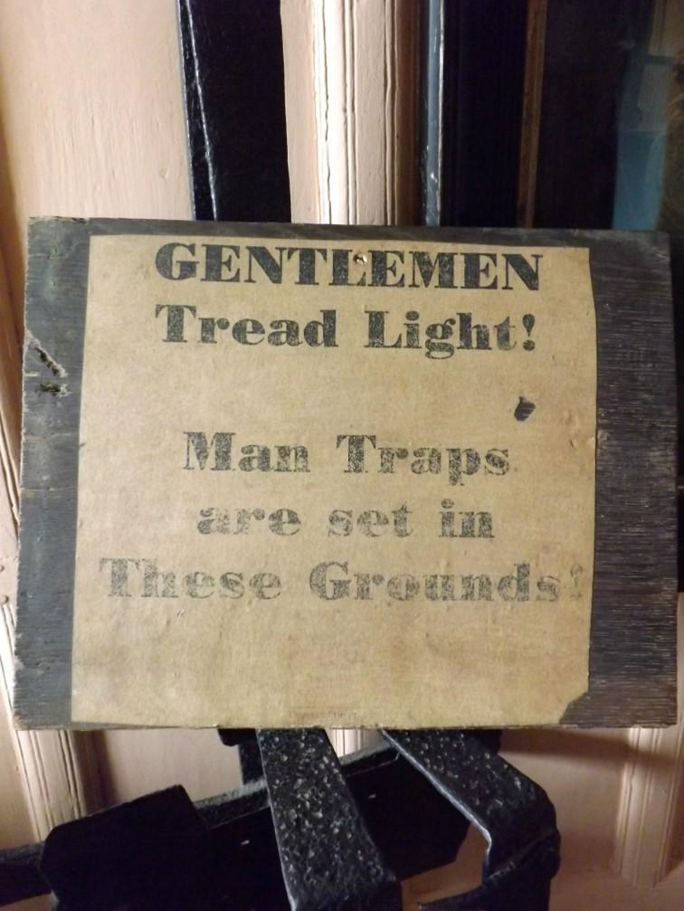Man traps!