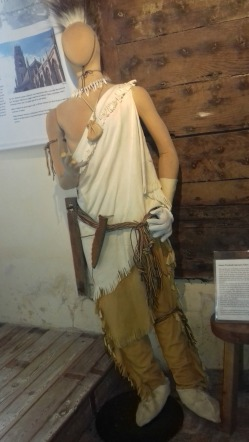 Model of Native American at the time the PIlgrim Fathers landed