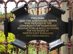 Notice on the Park Gate